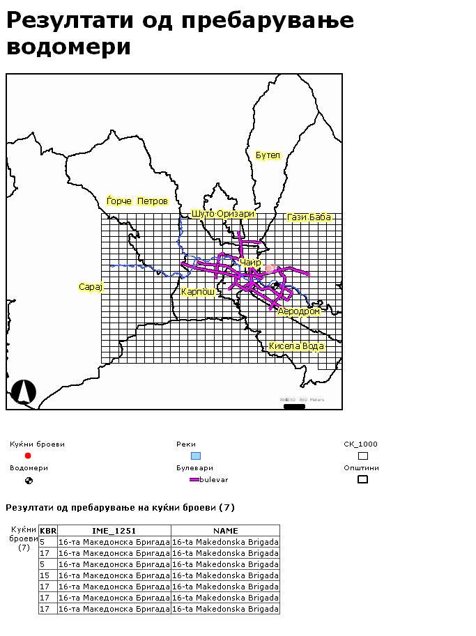 Water GIS Print report
